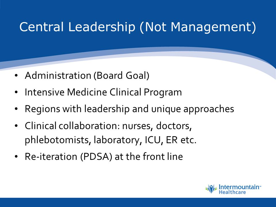 Central Leadership (Not Management)