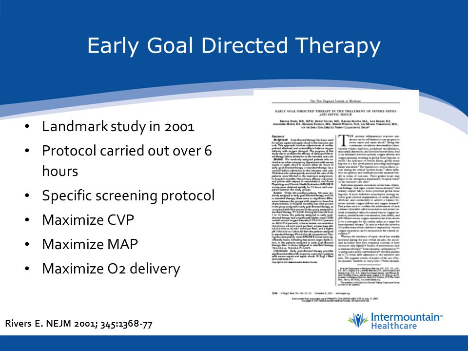 Early Goal Directed Therapy