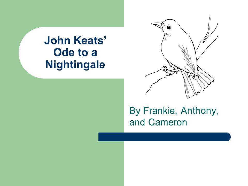 John Keats' Ode to a Nightingale