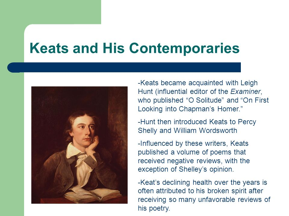 Keats and His Contemporaries