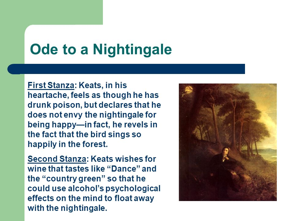 """Ode to a Nightingale"" by John Keats Essay Sample"