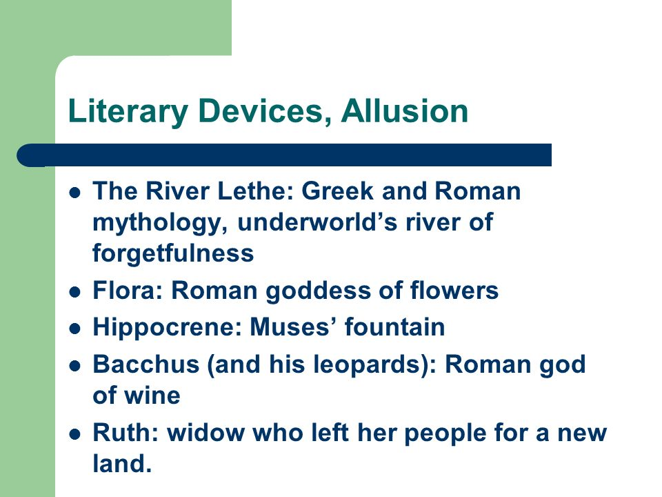 Literary Devices, Allusion