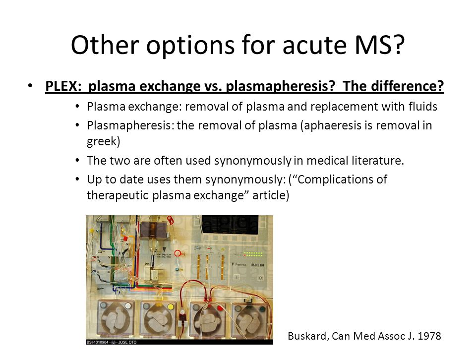 Other options for acute MS
