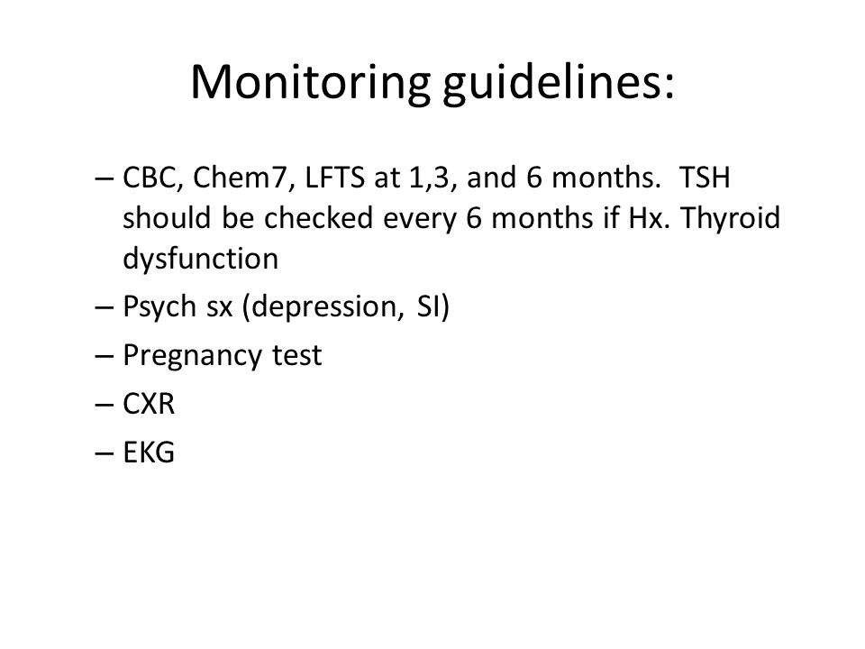 Monitoring guidelines: