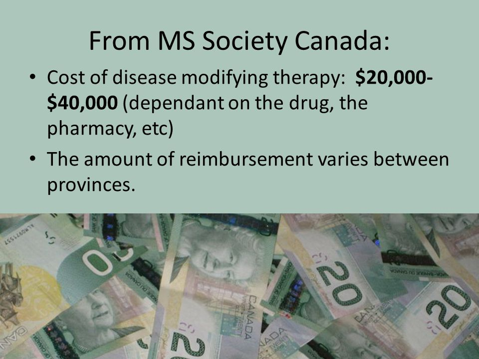From MS Society Canada: