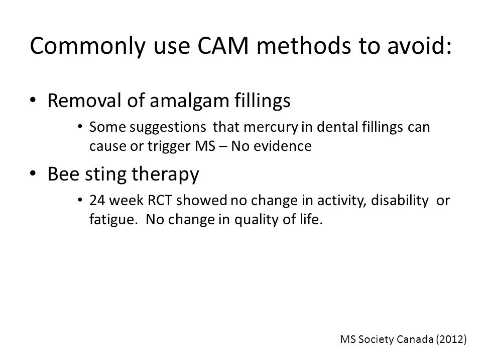 Commonly use CAM methods to avoid: