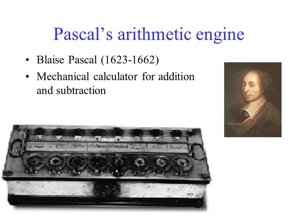 Pascal's arithmetic engine