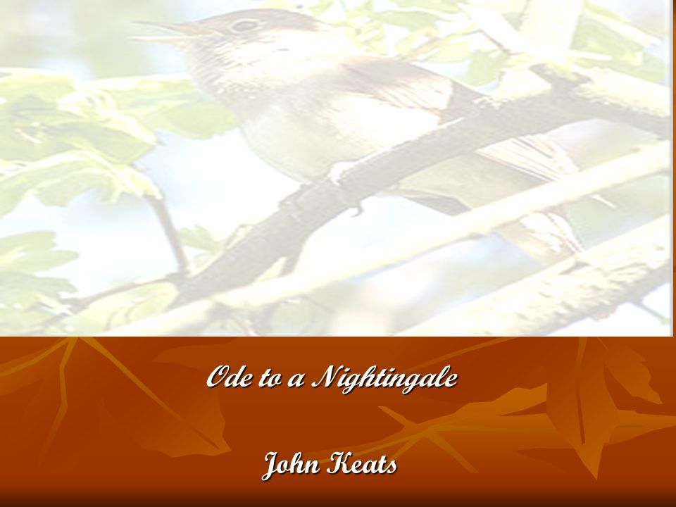 Ode to a Nightingale John Keats