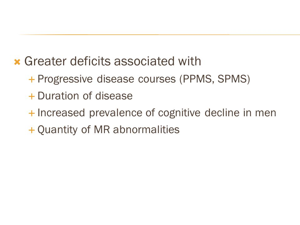 Greater deficits associated with