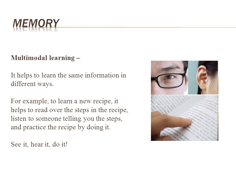 Memory Multimodal learning –