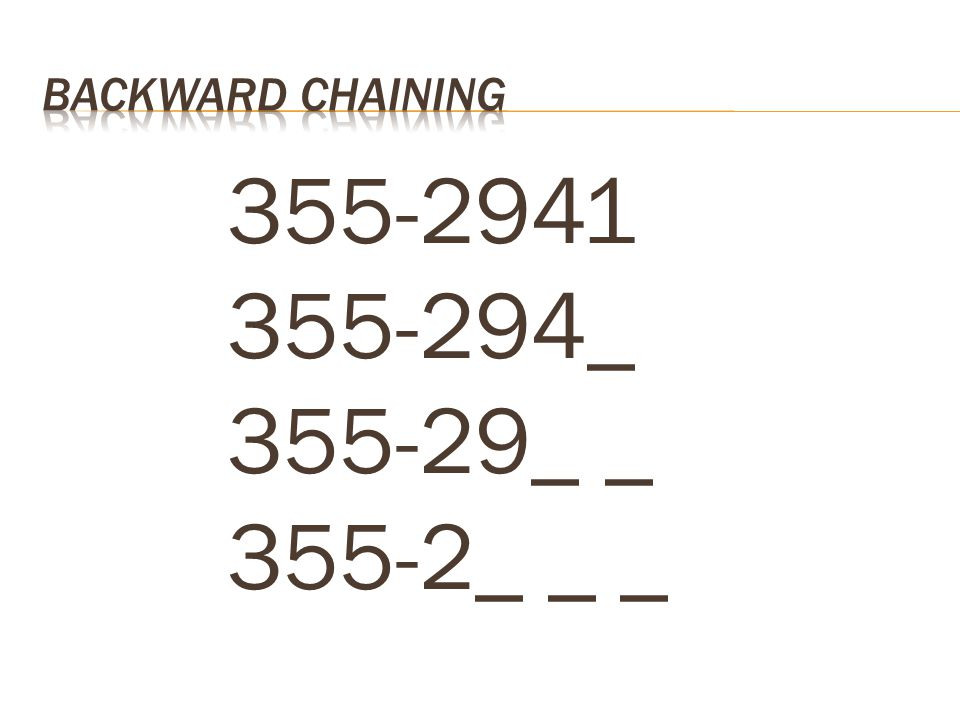 355-2941 355-294_ 355-29_ _ 355-2_ _ _ Backward Chaining