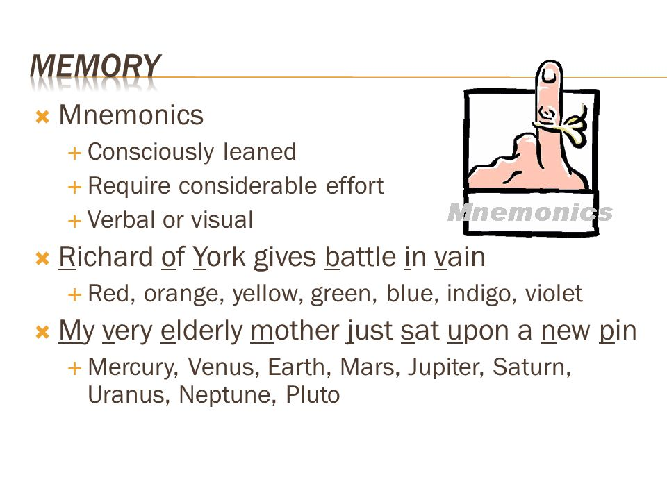Memory Mnemonics Richard of York gives battle in vain