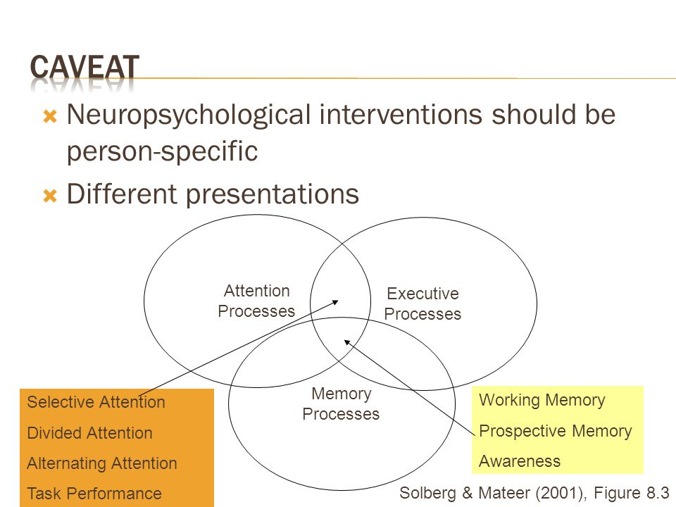 Caveat Neuropsychological interventions should be person-specific