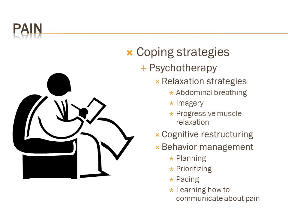 Pain Coping strategies Psychotherapy Relaxation strategies