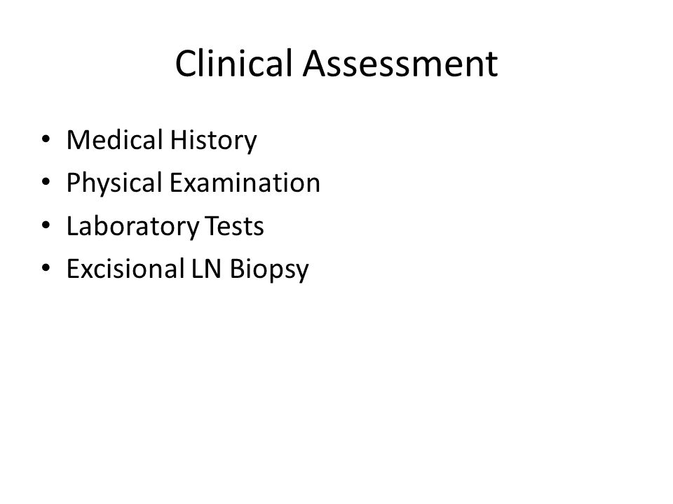 Clinical Assessment Medical History Physical Examination