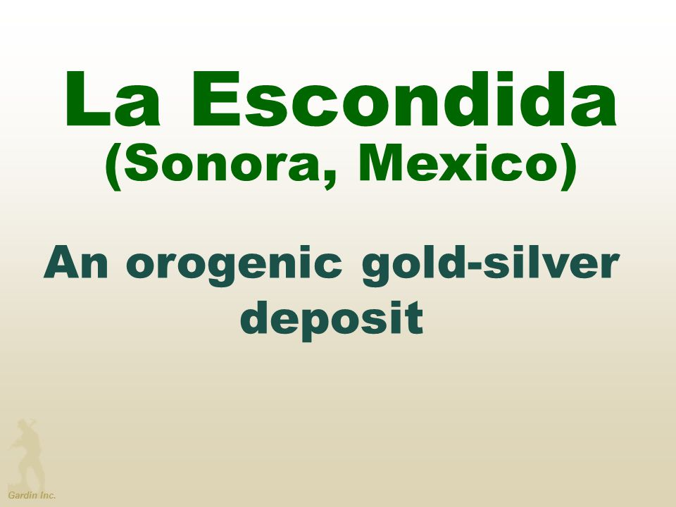 An orogenic gold-silver deposit