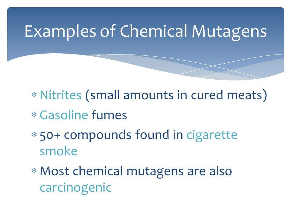 Examples of Chemical Mutagens