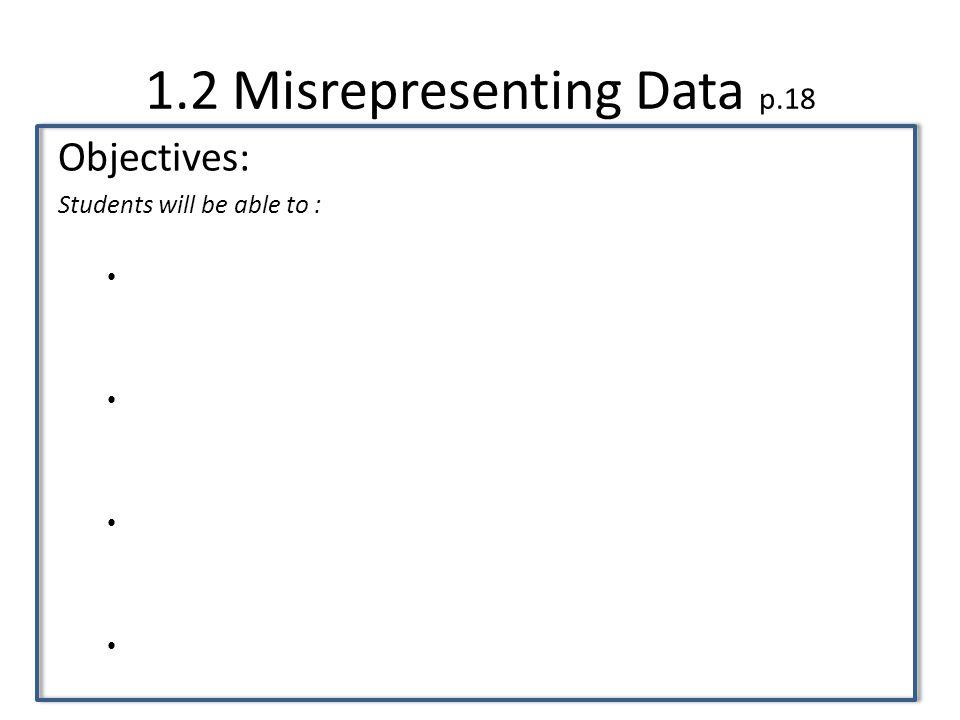 1.2 Misrepresenting Data p.18