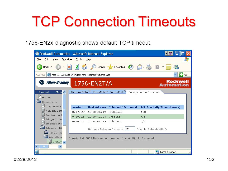 TCP Connection Timeouts