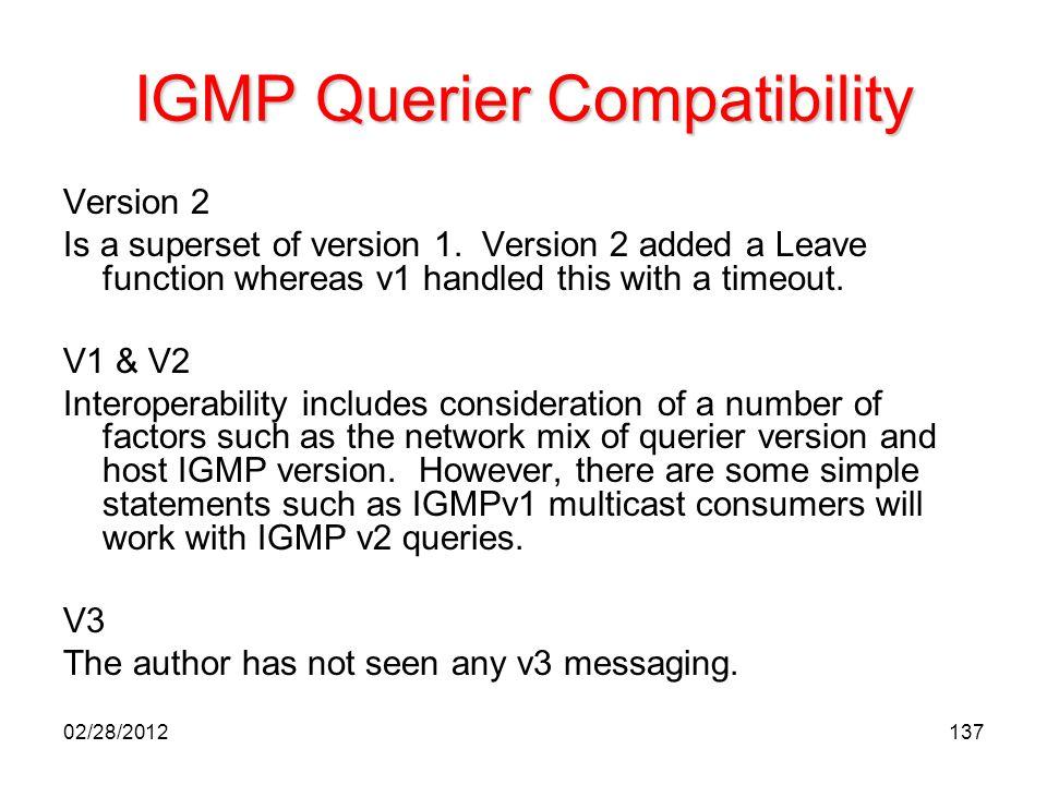 IGMP Querier Compatibility