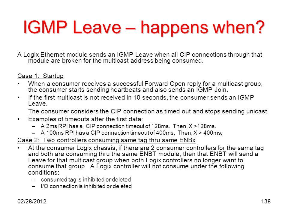 IGMP Leave – happens when