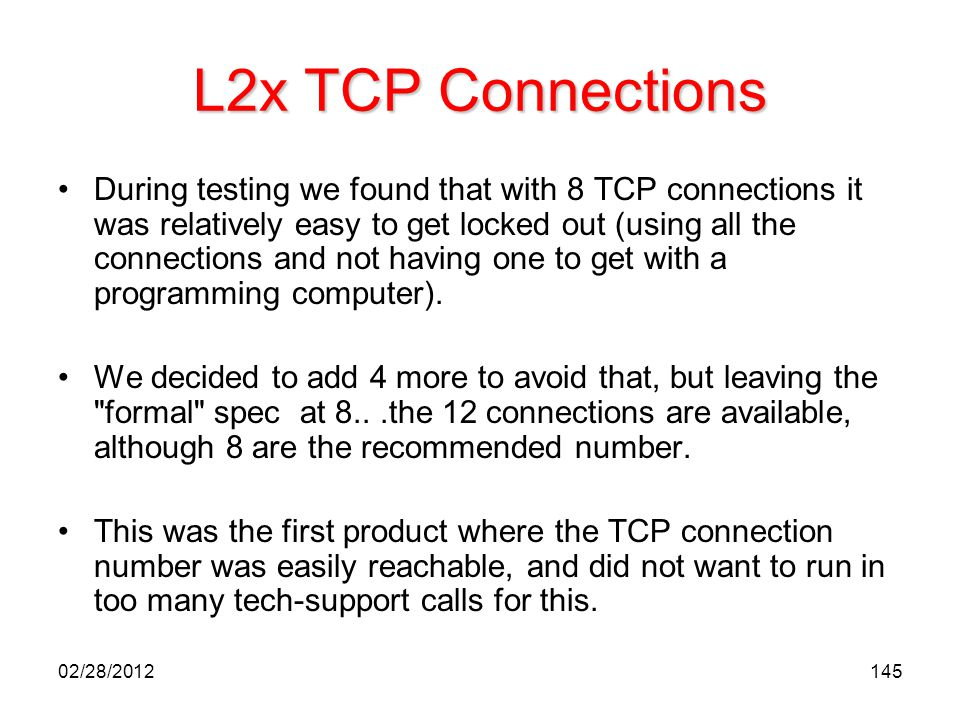 L2x TCP Connections