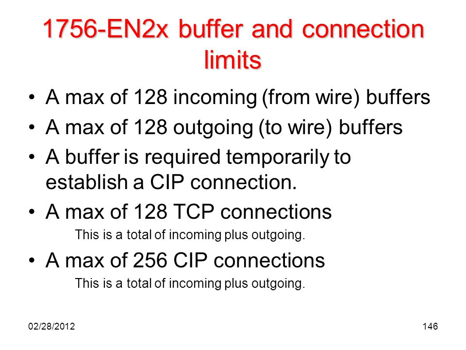 1756-EN2x buffer and connection limits