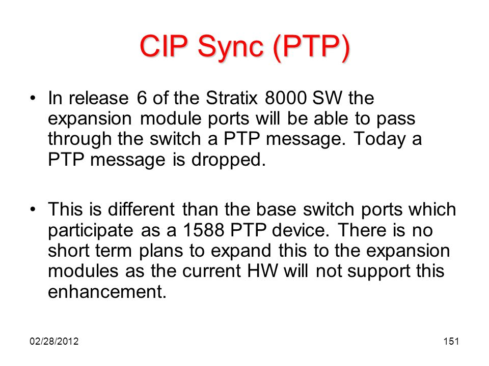 CIP Sync (PTP)