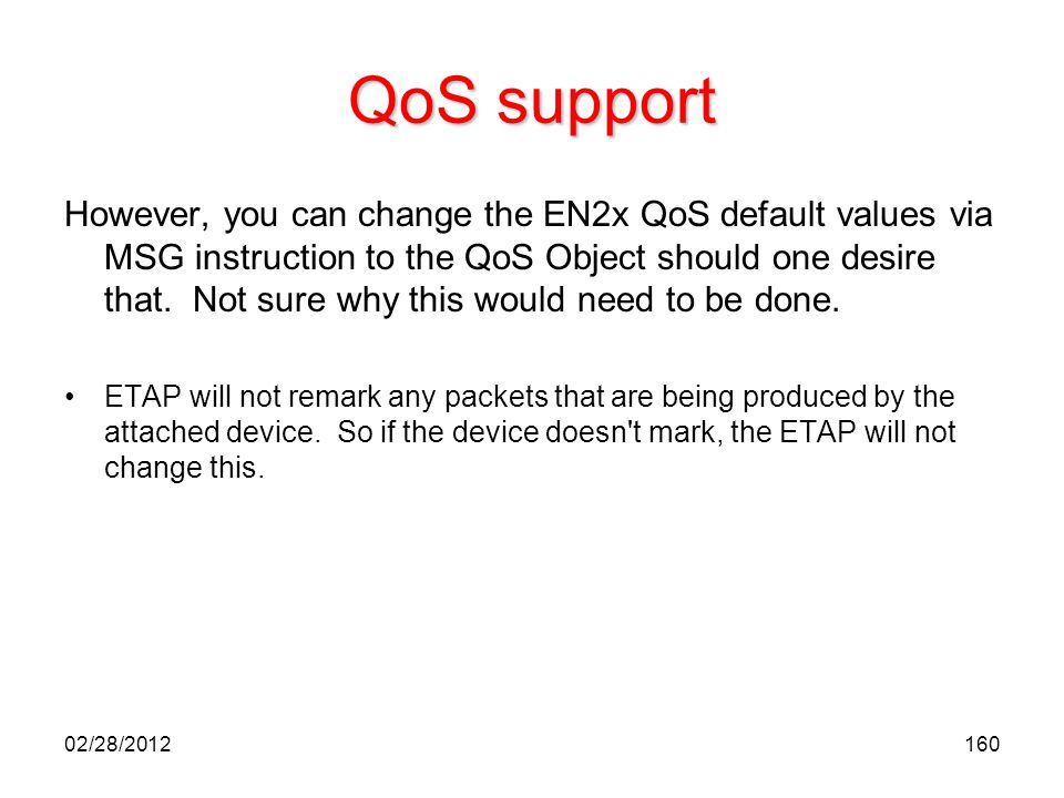 QoS support