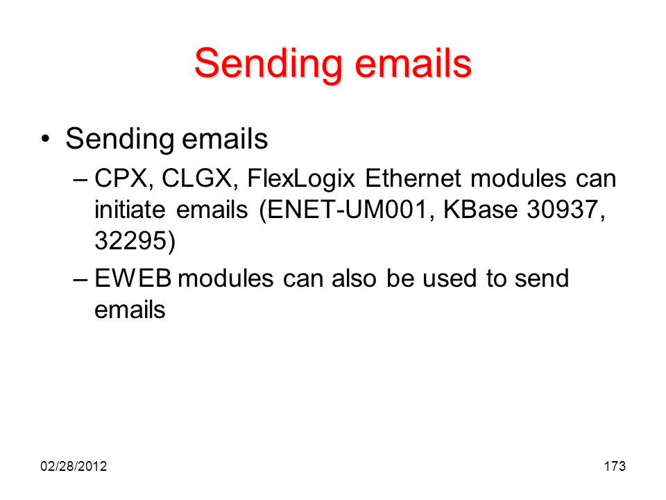 Sending emails Sending emails