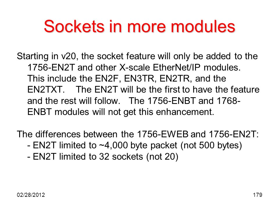 Sockets in more modules
