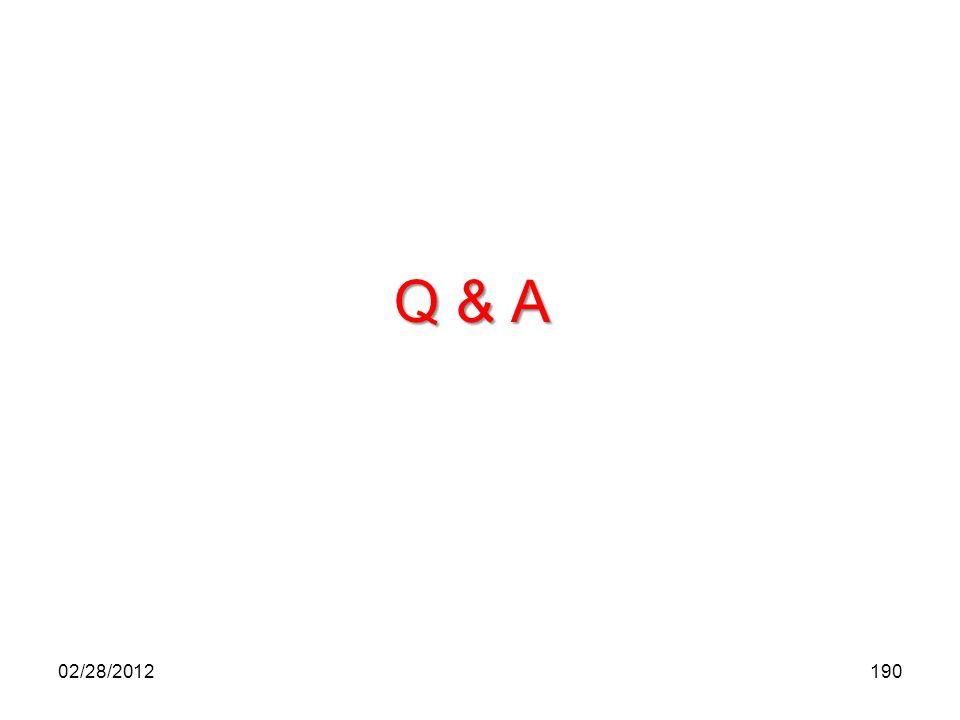 Q & A 02/28/2012
