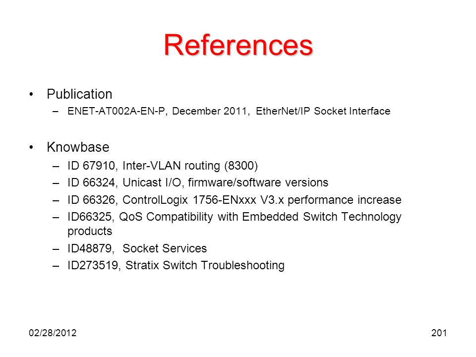 References Publication Knowbase ID 67910, Inter-VLAN routing (8300)