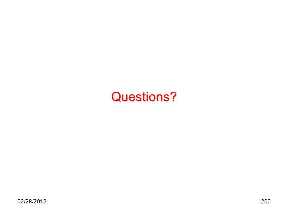Questions 02/28/2012