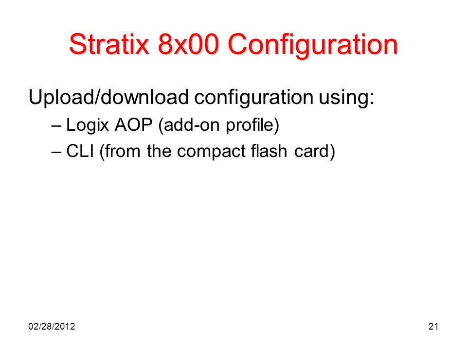 Stratix 8x00 Configuration