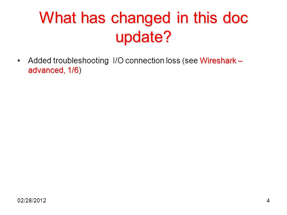 What has changed in this doc update