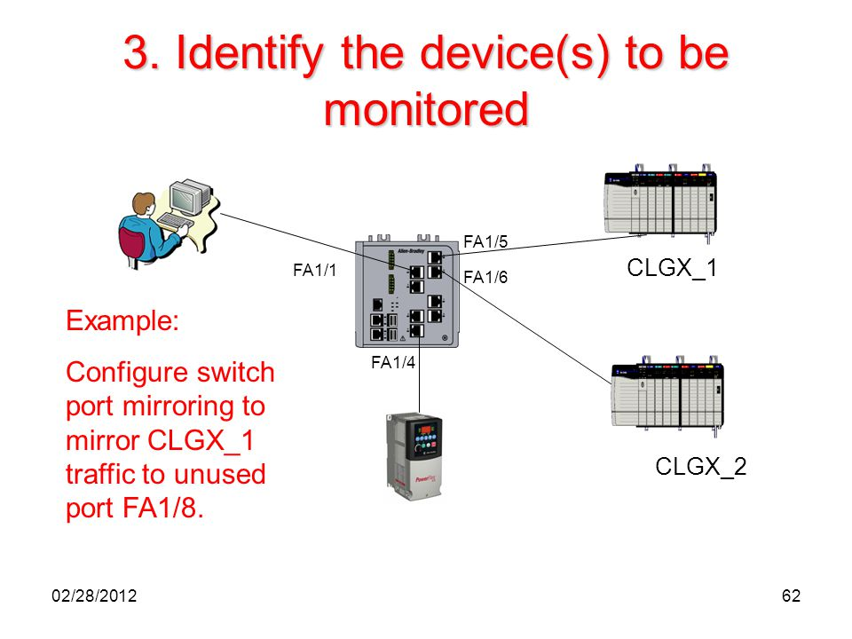 3. Identify the device(s) to be monitored