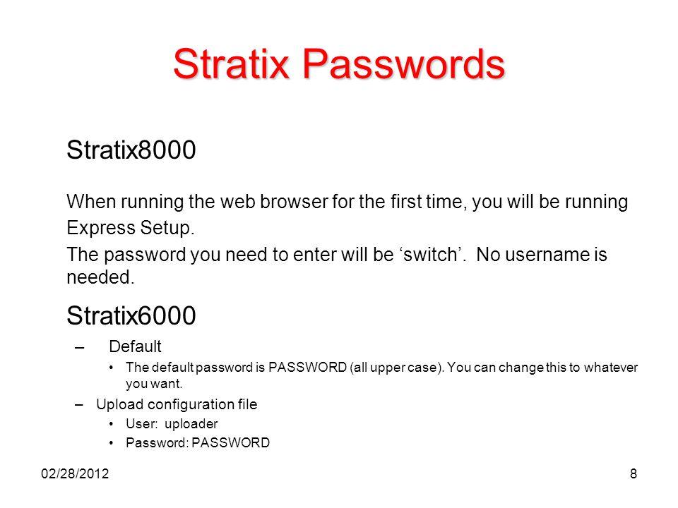 Stratix Passwords Stratix8000