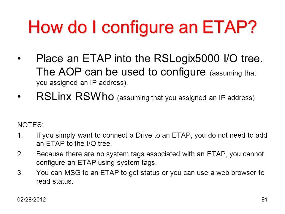 How do I configure an ETAP