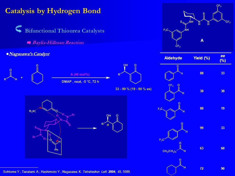 Catalysis by Hydrogen Bond