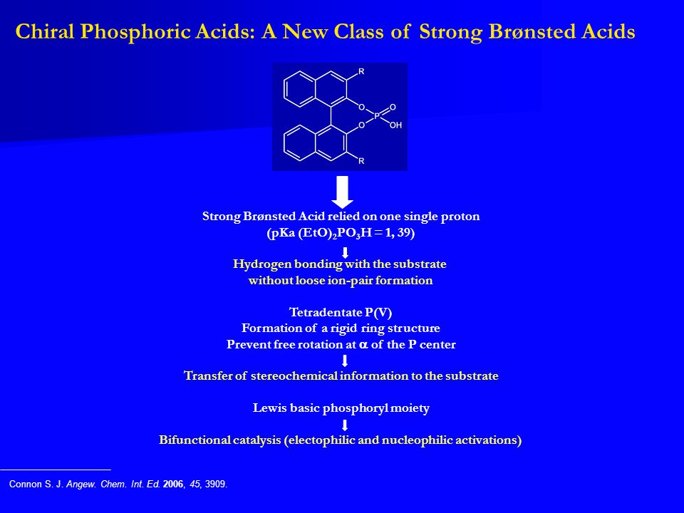 Chiral Phosphoric Acids: A New Class of Strong Brønsted Acids