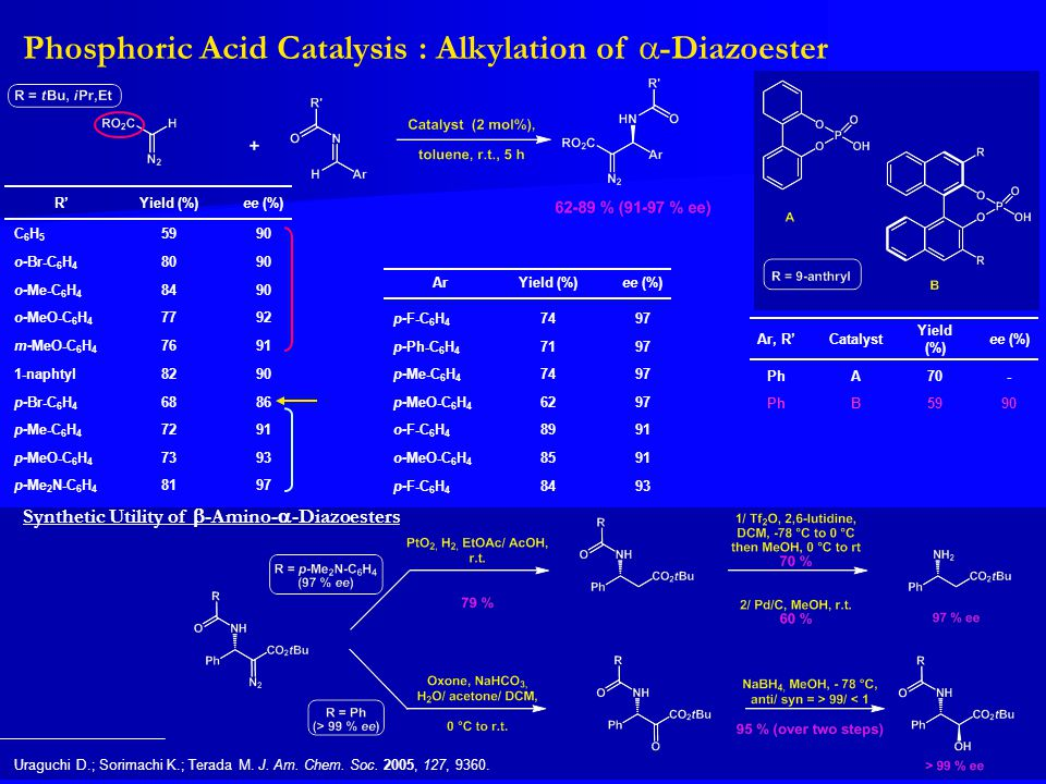 Phosphoric Acid Catalysis : Alkylation of a-Diazoester