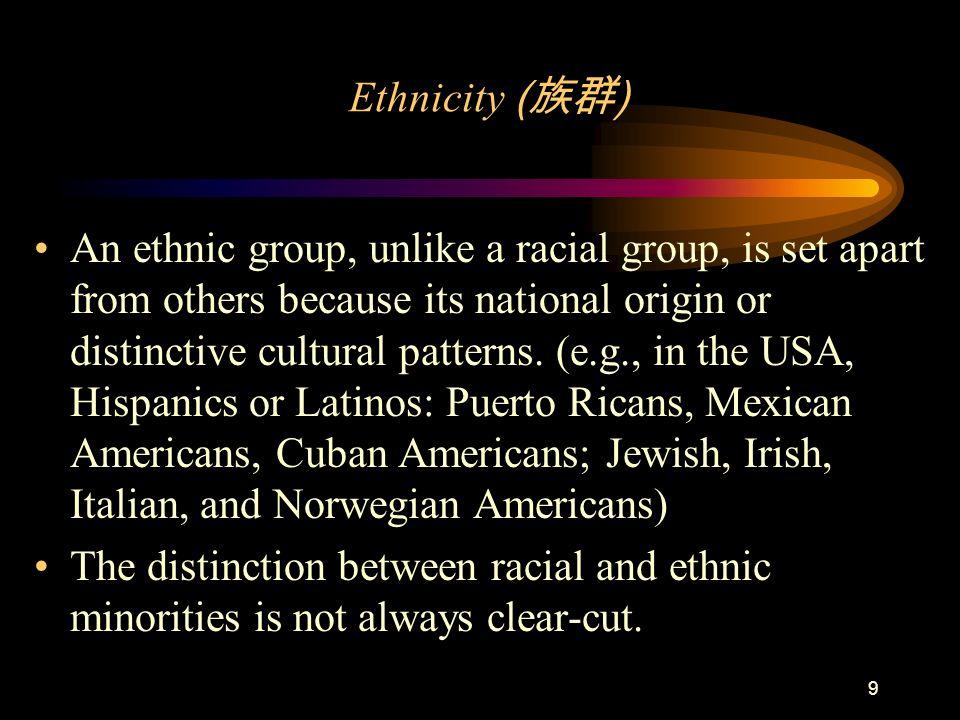 Ethnicity (族群)