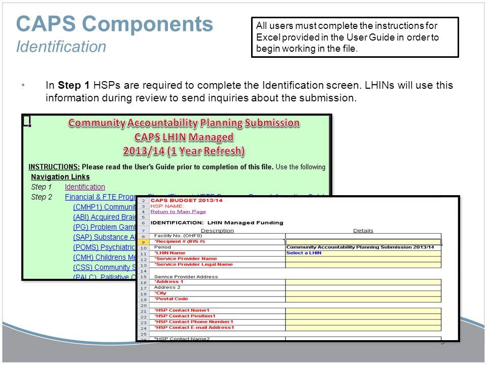 CAPS Components Identification