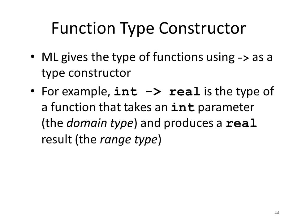 Function Type Constructor
