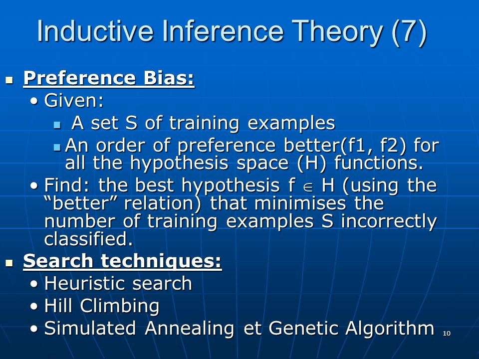 Inductive Inference Theory (7)