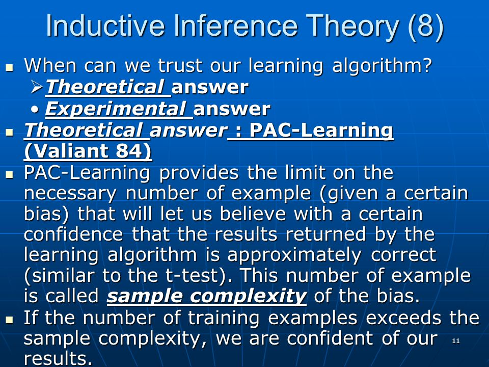Inductive Inference Theory (8)