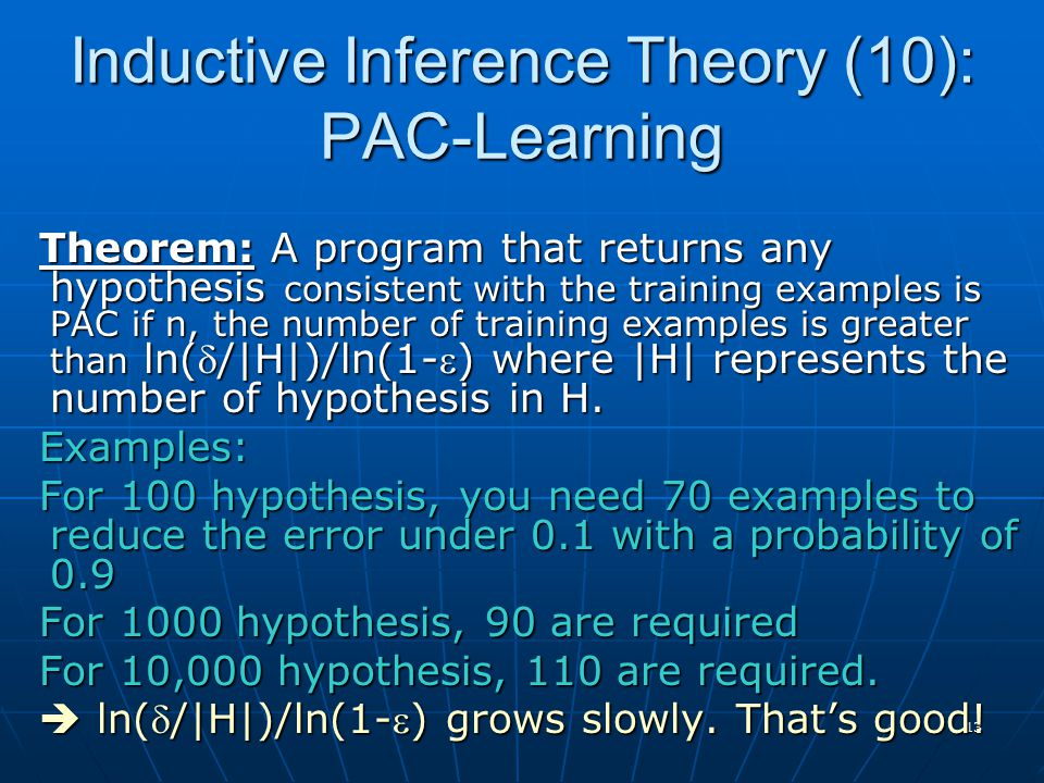 Inductive Inference Theory (10): PAC-Learning
