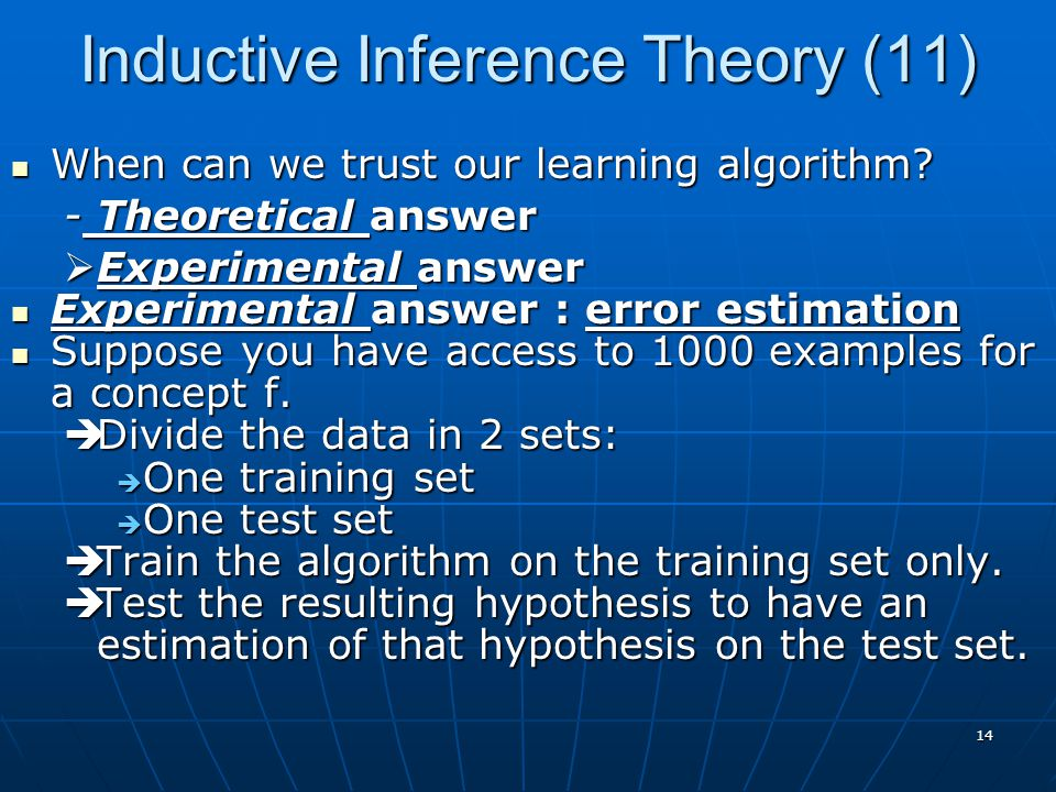 Inductive Inference Theory (11)