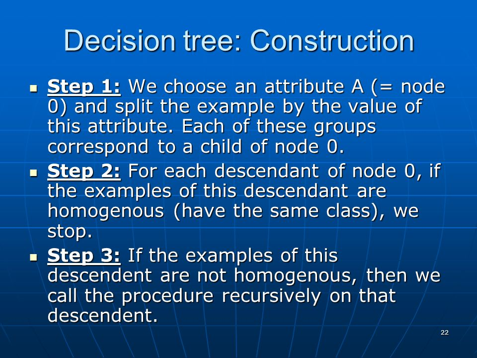 Decision tree: Construction